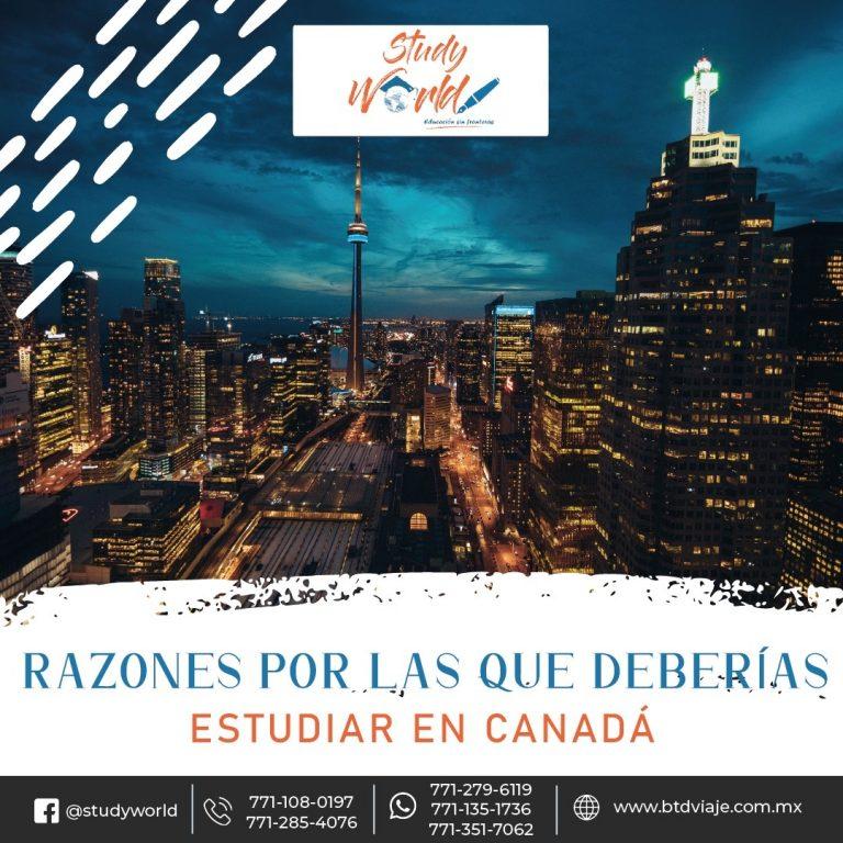 Razones por las que deberías de estudiar en Canadá