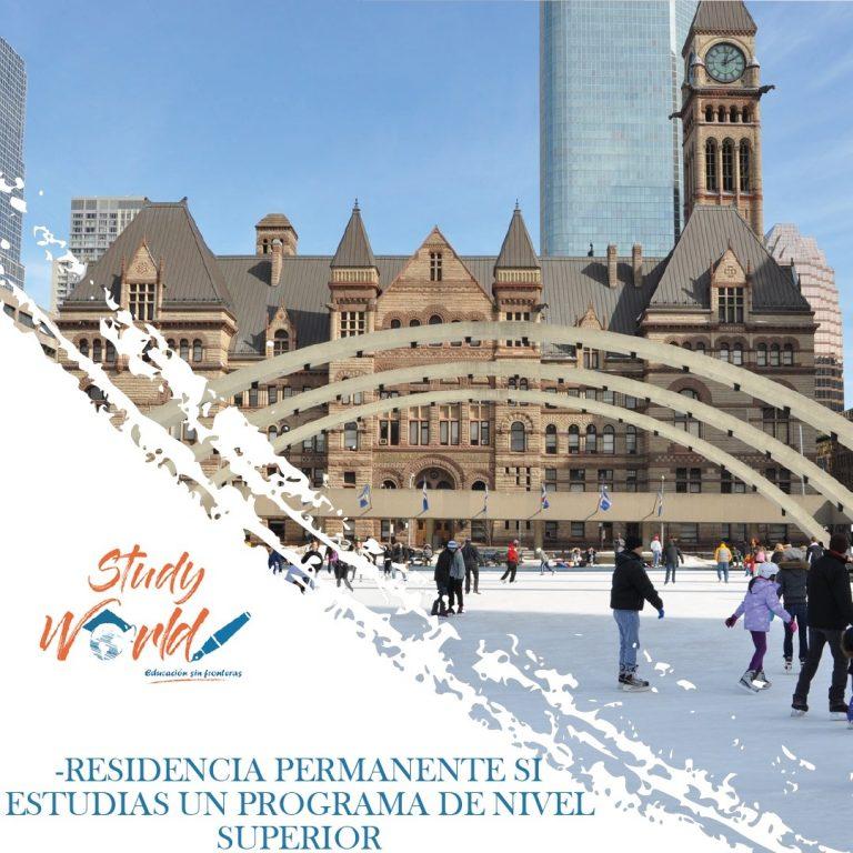 Residencia Canadiense permanente si estudias un programa de nivel superior