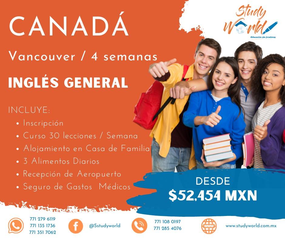 Estudia en Canadá Vancouver por 4 semanas Ingles General con StudyWorld