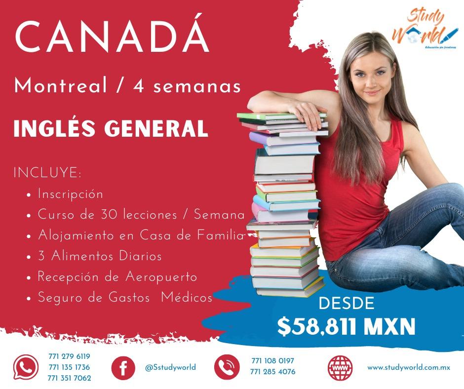 Estudia en Montreal Canadá por 4 semanas Inglés General con StudyWorld