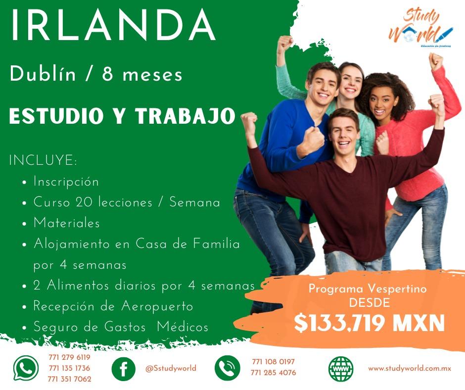 Estudia y Trabaja en Dublín, Irlanda. Programa Vespertino.